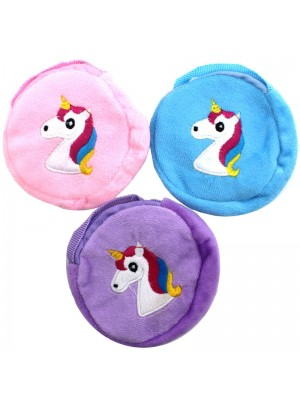 Round Unicorn Coin Purse