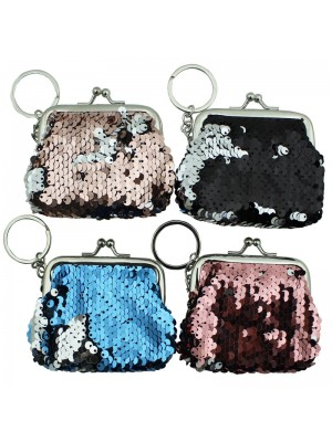 Reversible Sequin Coin Purse - Assorted Colours