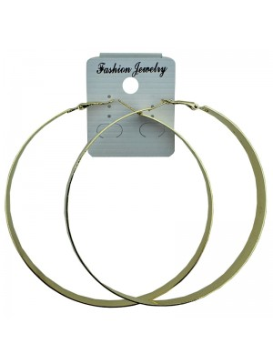 Gold Plain Hoop Earrings - 9cm