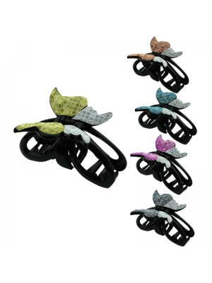 Ladies Fashion Clamp - Butterfly Design (Assorted Colours)