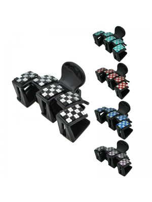 Ladies Fashion Clamps - Two Tone Design (Assorted Colours) 8cm