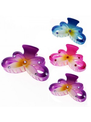Ladies Fashion Clamps - Flower Design (Assorted Colours) 8.5cm