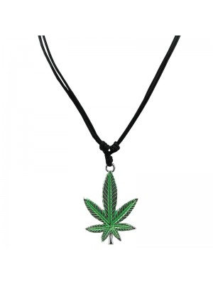 Corded Pendant - Cannabis Leaf Design