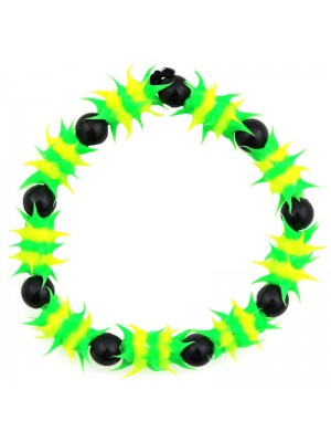 Spiky Silicone Rubber Bead Bracelet (Jamaica Colours)