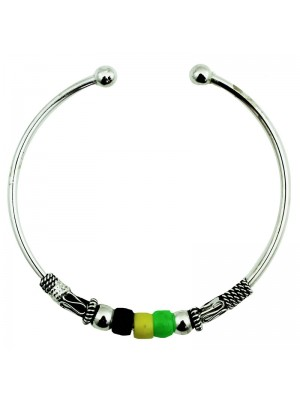 Stainless Steel Adjustable Cuff Bangle (Jamaica Colours)
