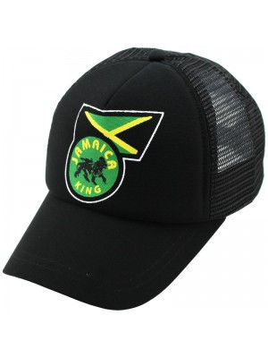 Jamaica King Baseball Cap - Black