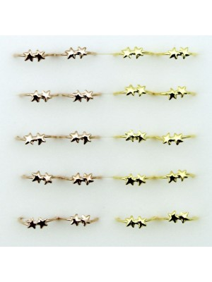 Star Design Nose Rings - Assorted Colours (8mm)