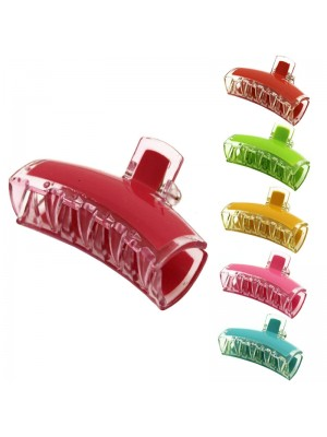 Ladies Basic Plastic Clamps (Assorted Colours) 8cm