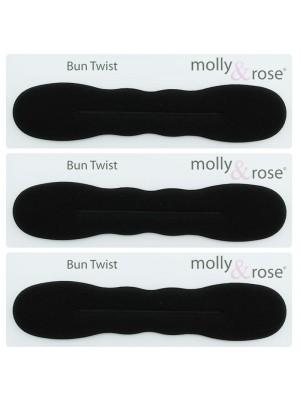 Molly & Rose Bun Twist - Black