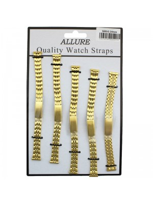 Allure Metal Bracelets Watch Straps - Gold - 14mm Wholesale