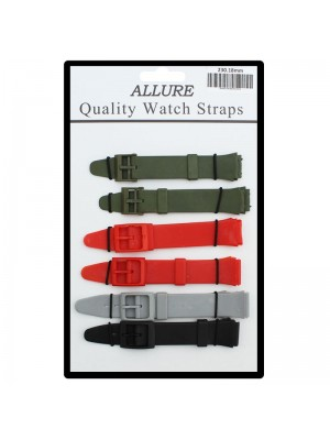 Allure Swatch Replacement Watch Straps - Asst. Dark Colours - 18mm
