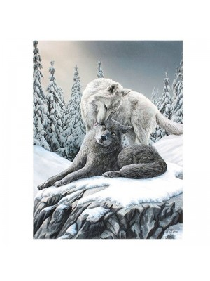 Lisa Parker Wolf Snow Kisses Picture Canvas