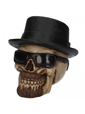 Fedora Hat Skull - 14cm Wholesale