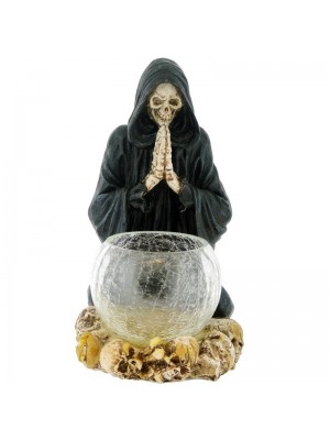 Praying Reaper Candle Holder - 19.5cm Wholesale