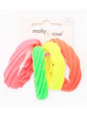 Wholesale Molly & Rose Twist Textured Neon Jersey Elastics-4cm