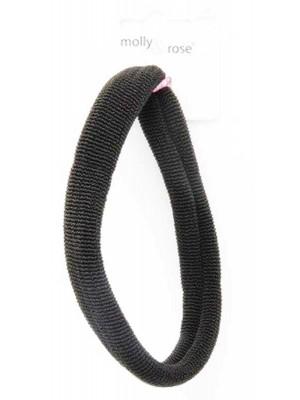 Wholesale Black thick knit jersey bandeau elastic-9cm