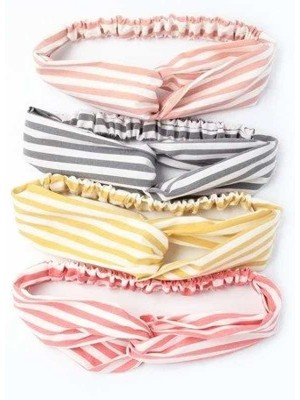 Molly & Rose Striped Fabric Link Detailed Bandeau-Assorted