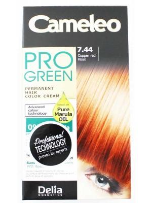 Wholesale Delia Cosmetics Cameleo Pro Green Permanent Hair Colour Cream-7.44(Copper Red)