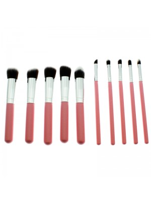 Lilyz 8 Piece Make Up Brush Set - Pink