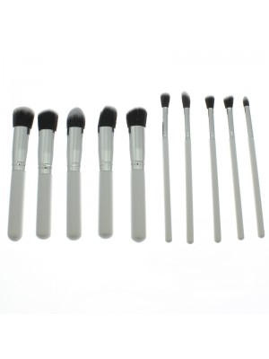 Lilyz 8 Piece Make Up Brush Set - White