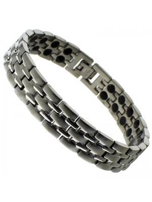 Magnetic Bracelet With 44 Magnets - Silver