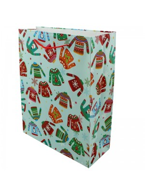 Christmas Jumpers Design Gift Bag - Large (26cm x 32cm x 10cm)
