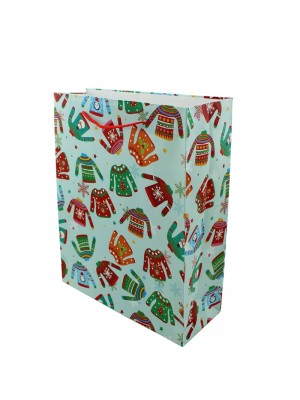 Christmas Jumpers Design Gift Bag - Medium (18cm x 23.5cm x 9cm)