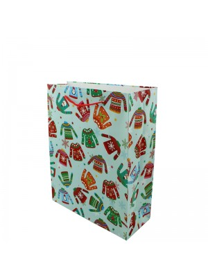 Christmas Jumpers Design Gift Bag - Small (12cm x 15cm x 6cm)
