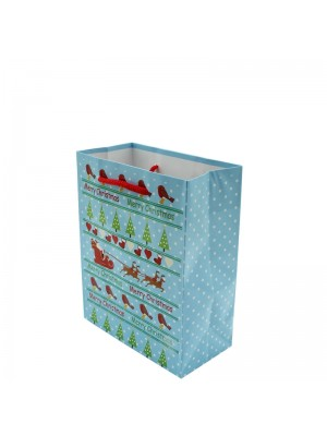 Merry Christmas Design Gift Bag - Small (12cm x 15cm x 6cm)