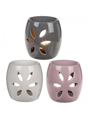 Ceramic Oil Burner Petal Design - Assorted Colours
