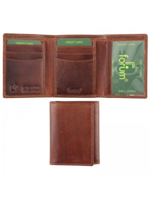 Men's Forum Leather Wallet - Brown