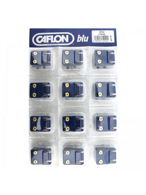 Caflon Blu February Gold Amethyst Birthstone Studs