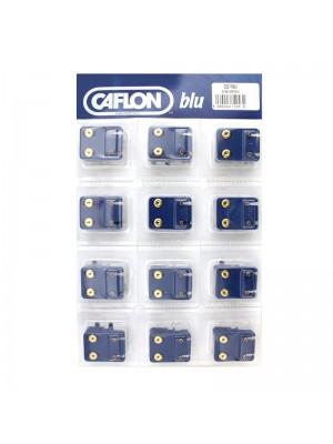 Caflon Blu Mini February Gold Amethyst Birthstone Studs