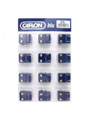 Caflon Blu Mini July Gold Ruby Birthstone Studs