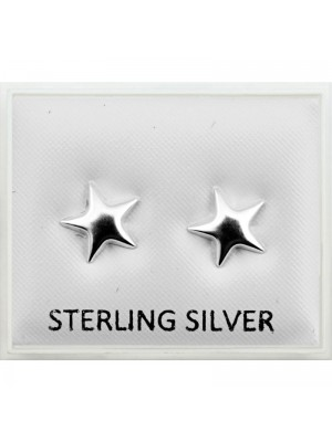 Sterling Silver Star Studs (8mm)