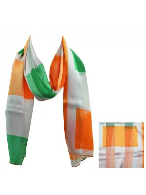 Ladies Satin Scarf - Irish Flag Wholesale