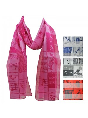Ladies Satin Scarf - Stripe Music Instruments Wholesale