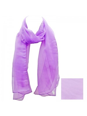 Ladies Plain Chiffon Scarf - Lilac Wholesale