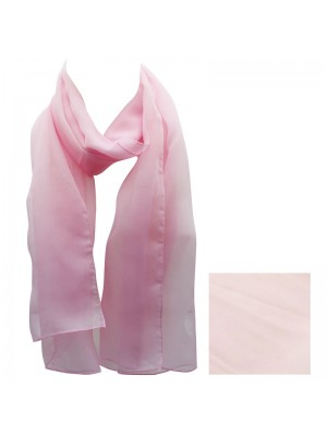 Ladies Plain Chiffon Scarf - Light Pink Wholesale