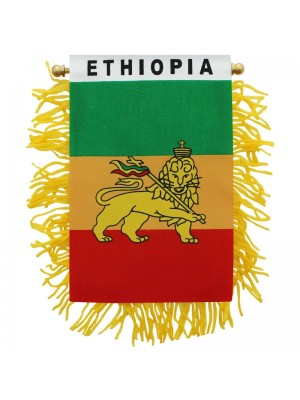 Ethiopia Mini Banner Flag - 10cm x 13cm Wholesale