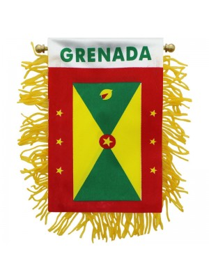 Grenada Mini Banner Flag - 10cm x 13cm Wholesale