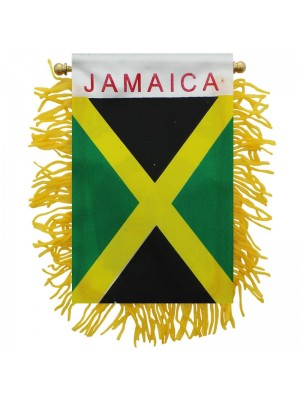 Jamaica Mini Banner Flag - 10cm x 13cm Wholesale