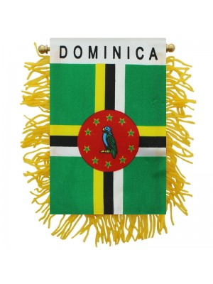 Dominica Mini Banner Flag - 10cm x 13cm Wholesale