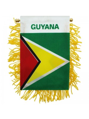 Guyana Mini Banner Flag - 10cm x 13cm Wholesale