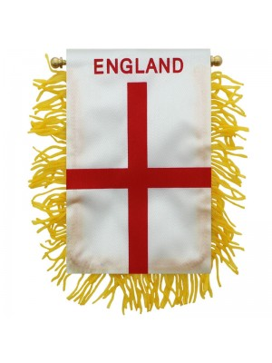 England Mini Banner Flag - 10cm x 13cm Wholesale