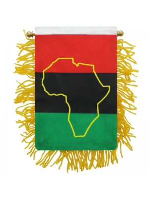 Africa Mini Banner Flag - 10cm x 13cm Wholesale