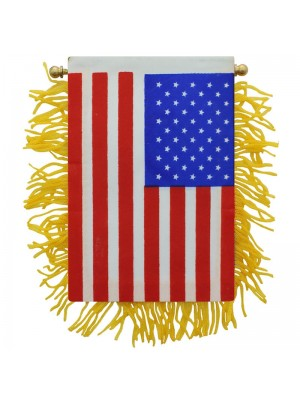 USA Mini Banner Flag - 10cm x 13cm Wholesale