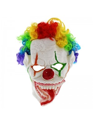 Clown Mask with Rainbow Hair Wholesale