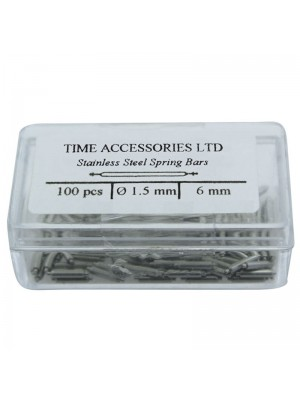 Stainless Steel Spring Bars (1.5mm/6mm) Wholesale