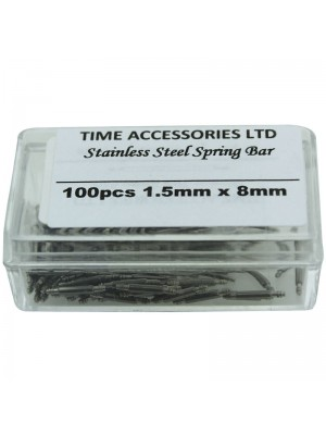 Stainless Steel Spring Bars (1.5mm/8mm) Wholesale